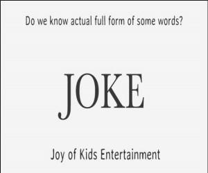 full form of Joke