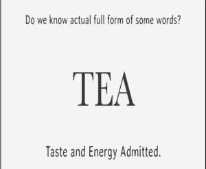 full form of TEA