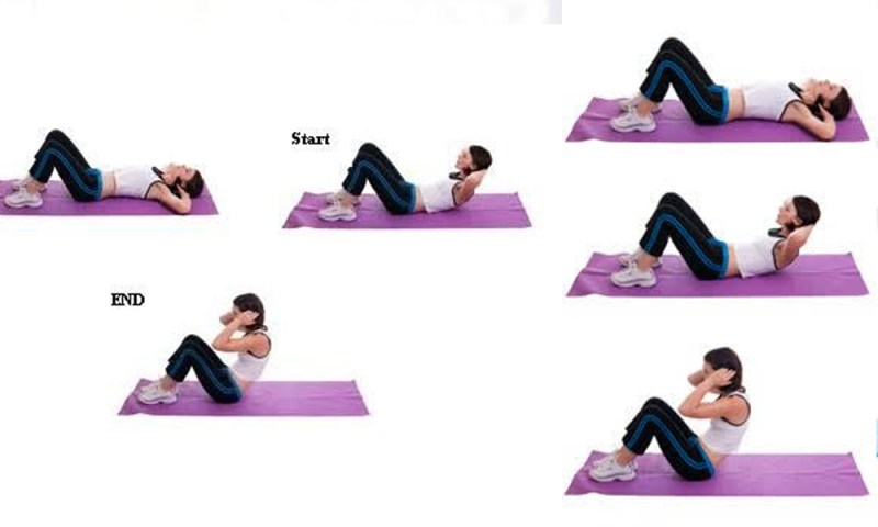 Sit ups the best exercise to get rid of stomach fat