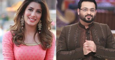 Aamir Liaquat Criticized Mehwish Hayats Recent PhotoShoot