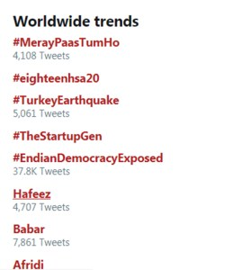 Mere Pass Tum Ho last Episode Top trend world wide on twitter