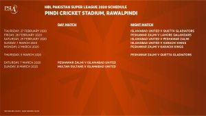 PSL 5 Matches in Pindi Cricket Stadium