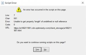 Set Quickbooks Script Error