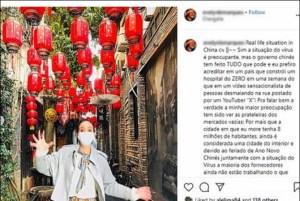 Social media users make corona virus a source of fame