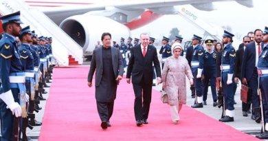 Turkish President Erdogan arrives in Pakistan on 2 days tour