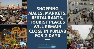 Shopping malls, markets, restaurants will remain close in Punjab for 2 days