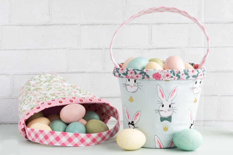 Fabric Easter Basket - Homemade Easter basket
