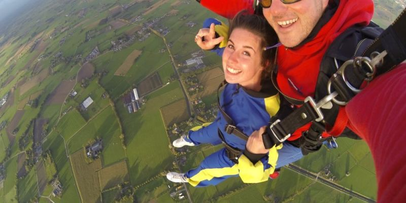 Sky Diving on Birthday