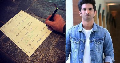 List of 50 handwritten wishes by actor Sushant Singh
