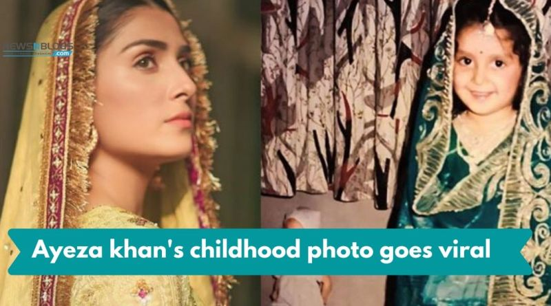ayeza khan's childhood photo goes viral on social media