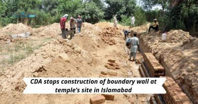 CDA stops construction of boundary wall at temple's site in Islamabad