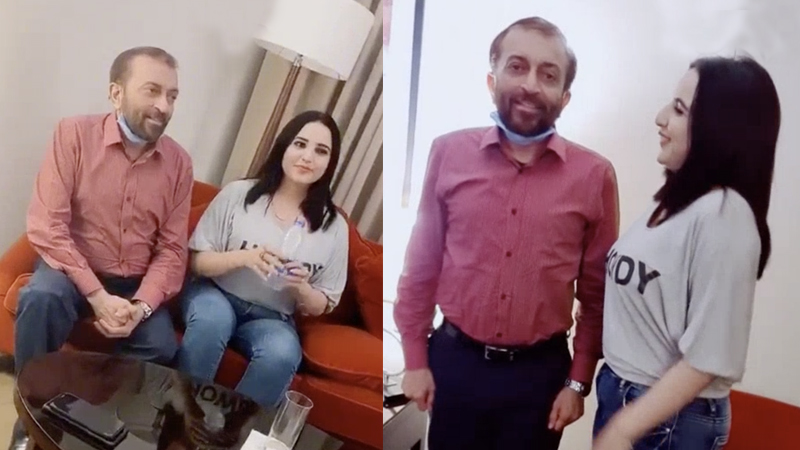 Hareem Shah and Farooq Sattar viral pictures