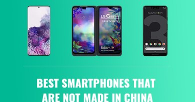 Some of the Best Smartphones that are not Made in China
