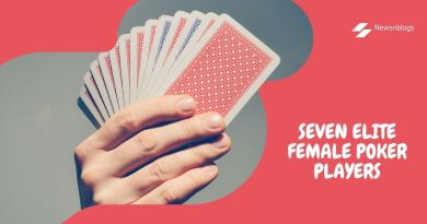 Seven elite female poker players