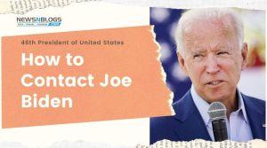 How to contact Joe Biden