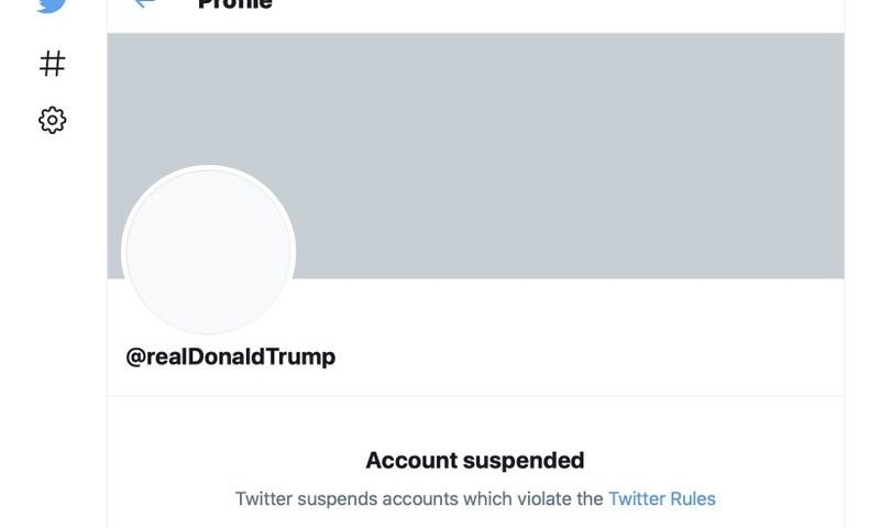 Twitter Suspends Donald Trump's account permanently