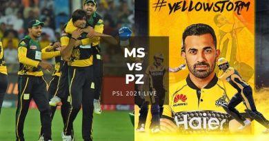 Watch PSL 2021 Live Stream Multan Sultan vs Peshawar Zalmi, match no 21