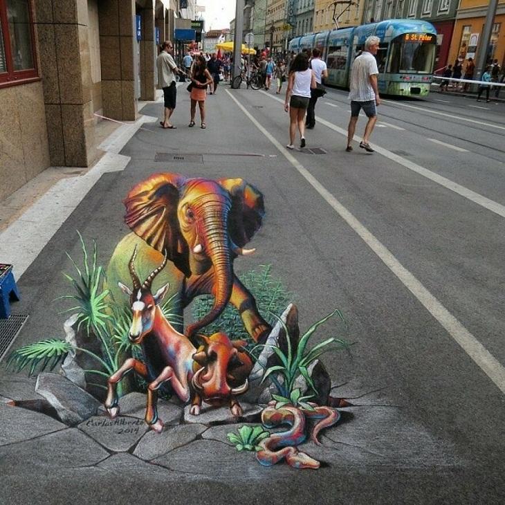 Beautiful Street 3D Art by Carlos Alberto GH