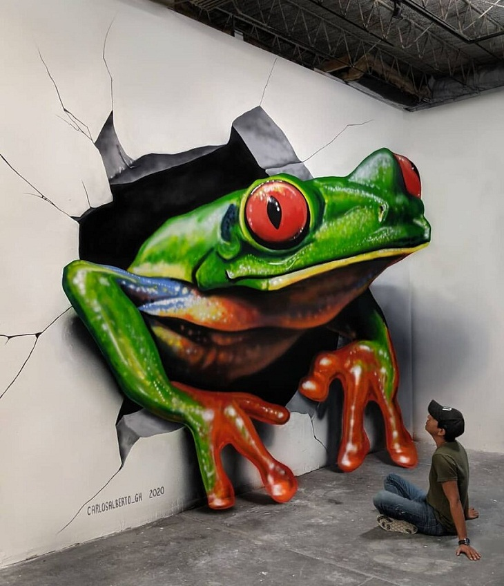 Frog 3D Painting by Carlos Alberto GH