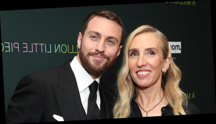 Aaron Taylor-Johnson & Wife Sam Step Out for 'A Million ...