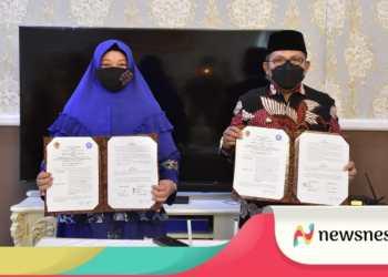Walikota Gorontalo Marthen Taha menandatangani MoU