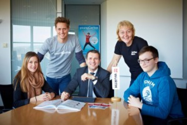 Prominenter Besuch beim Young Heroes Day bei Würth