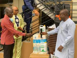 Hon Aboagye-Gyedu, MP with Hon. Alfred Amoah, MCE, Bibiani-Anwhiaso-Bekwai ,
