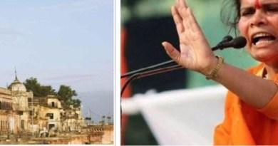 साध्वी प्राची ने कहा कि अगर 6 दिसंबर तक या उसके पहले राम मंदिर निर्माण की घोषणा नहीं होती तो संत समाज खुद ही राम मंदिर निर्माण की घोषणा कर दे