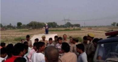गाजीपुर में तोड़ी अंबेडकर की प्रतिमा