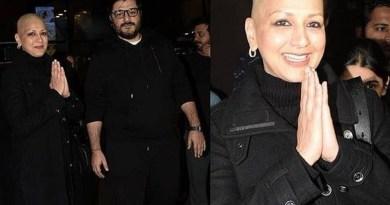 फिल्म अभिनेत्री सोनाली बेंद्र मुंबई लौट आई हैं। अमेरिका में कैंसर का इलाज करा रही सोनाली करीब 5 महीने बाद भारत लौटी हैं।