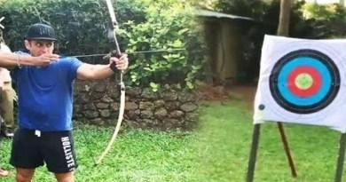 सलमान खान का इन दिनों एक वीडियो वायरल हो रहा है। इसमें वो स्पोर्टी लुक में तीरंदाजी करते नजर आ रहे हैं।