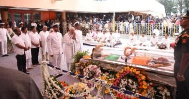गोवा के सीएम मनोहर पर्रिकर का हुआ अंतिम संस्कार