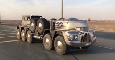 दुबई के एक शेख के पास 10 पहियों वाली SUV है। शेख ने अपनी इस SUV को 'धाबियन' (Dhabiyan) नाम दिया है।