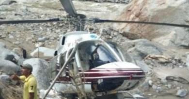उत्तरकाशी में हेलीकॉप्टर क्रैश
