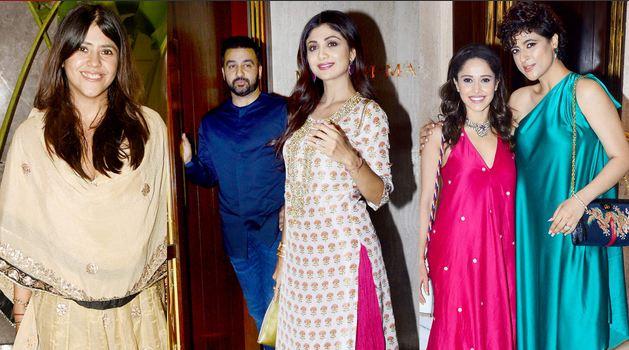 दिवाली से पहले फैशन डिजाइनर मनीष मल्होत्रा के घर दिवाली सेलिब्रेशन हुआ। इस पार्टी में बॉलीवुड के सितारे जमा हुए और जमकर धमाल मचाया।