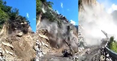 उत्तराखंड: ऋषिकेश-बदरीनाथ मार्ग पर पलक झपकते गिरी पहाड़ी, कैमरे में कैद हुआ खौफनाक मंजर, देखें वीडियो