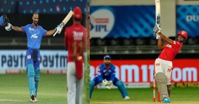 IPL 2020 : पंजाब ने दिल्ली को 5 विकेट से दी मात, 'गब्बर' का शतक भी नहीं आया काम