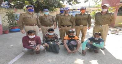 हल्द्वानी की लालकुआं कोतवाली पुलिस ने व्यापारी से लूट के मामले में 24 घंटे के भीतर खुलासा कर दिया है। पुलिस ने चार आरोपियों को गिरफ्तार कर लिया है।