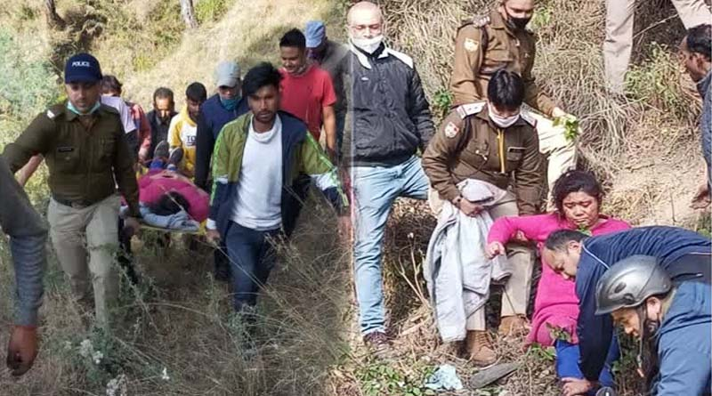 दुखद खबर! अल्मोड़ा में गहरी खाई में गिरी ऑल्टो, दो लोग गंभीर रूप से घायल