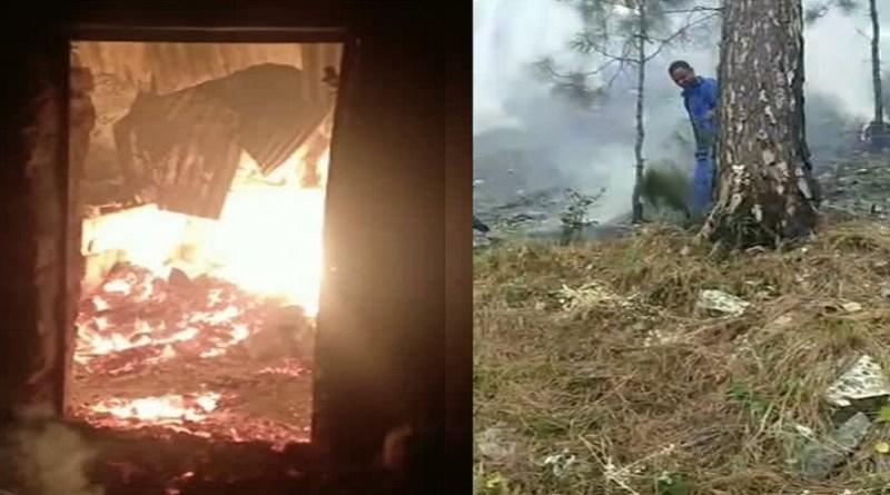 उत्तरकाशी जिले के जंगलों में लगी आग का तांडव बढ़ता जा रहा है। बीती रात डुंडा रेंज के रनाड़ी गांव के पास आग से गौशाला जलकर राख हो गई।
