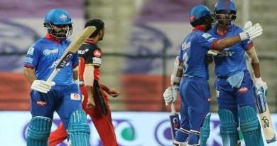 IPL 13 : दिल्ली ने बेंगलोर को 6 विकेट से दी मात, दोनों टीमों ने प्लेऑफ के लिए किया क्वालीफाई