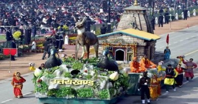 गणतंत्र दिवस के मौके पर इस साल दिल्ली के राजपाथ पर निकाली गई उत्तराखंड की झांकी को गढ़ी कैंट स्थित संस्कृति विभाग के म्यूजियम में रखा गया है।