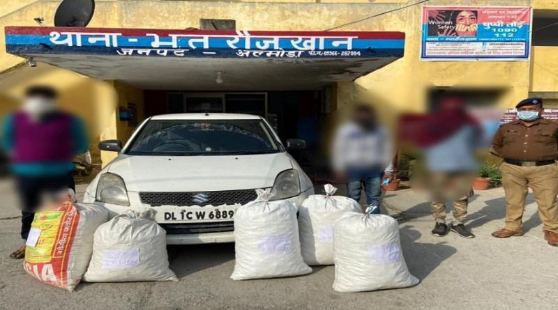 उत्तराखंड की अल्मोड़ा पुलिस लगातार नशे का कारोबार करने वालों पर शिकंजा कस रही है।
