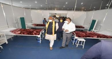 मुख्यमंत्री त्रिवेंद्र सिंह रावत हरिद्वार में पावनधाम भूपतवाला में 150 बेड के बेस अस्पताल का निरीक्षण किया।