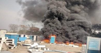 हरिद्वार के रानीपुर कोतवाली इलाके में कुंभ मेले में लगाए जाने वाले प्लास्टिक के शौचालय में भीषण आग लग गई।