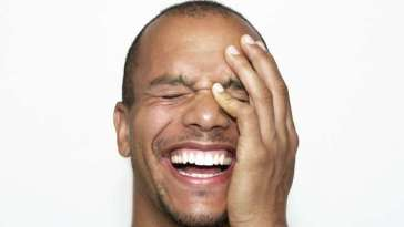 Black Man laughing