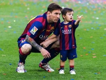 messi and his son