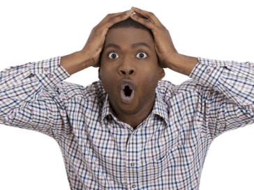 black man shocked