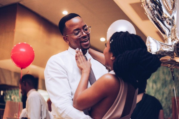 Maps Maponyane and wife
