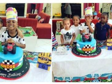 Paul Okoye's first son, Andre celebrates 4th birthday